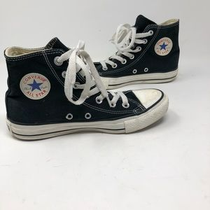 All star converse black high top sneakers